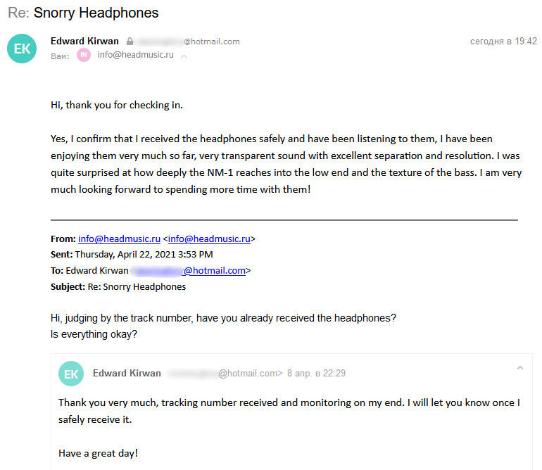Reviews from snorry headphone owners